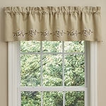 Cotton Wreath Lined Valance - 14