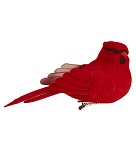 Large Cardinal Ornament with Clip