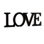 Wooden Words Hanger - Love - Black - 11.5 x 4.125 inches