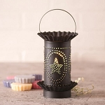 Tart Wax Warmer with Star Oval Design in Kettle Black