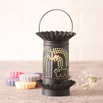 Tart Wax Warmer with Willow and Sheep in Kettle Black