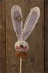 Buttons Burlap & Bows - Bunny Head Pick