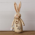 Cheeky Bunny Holding Basket - 14 Cents A Dozen