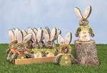 Easter Ranch Hare Ornament 2 Asst.