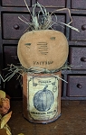 Handmade Primitive Pumpkin on Grungy Can 10