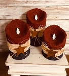 Set of 3 Americana Moving Realistic Flame Candles