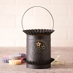 Jumbo Wax Warmer with Circle Star in Kettle Black