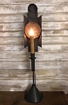 Handmade Primitive Tin Table Lamp Light 25.5