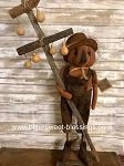 Primitive Handmade Pumpkin Boy With Gourd Tree 38
