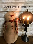 Handmade Rag Snowman with Candy Cane 19