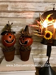 Primitive Handmade Small Gourd Witch Pumpkin Pots 10