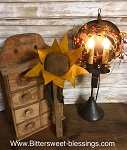 Handmade Sunflower on Tobacco Stick by Bearing in Love