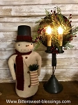 Handmade Snowman with Top Hat Stands 18