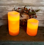Candy Corn Timer Pillar Candles