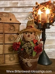 Handmade Primitive Metal Flower Pot with Scarecrow15