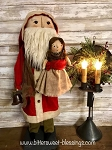 Handmade Father Christmas Santa with Doll by Bearing In Love