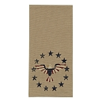 Eagle And Stars Print Dishtowel