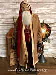 Arnett's Santa Light Brown Open Coat Holding Lantern and Tree 29