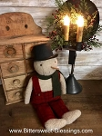 Handmade Snowman with Top Hat 20