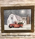 Wintry Weather Billy Jacobs Tobacco Lath Framed Artwork 17.5
