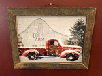 Tobacco Lath Framed Artwork 13.5