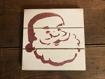 Santa Handmade Grooved Wood Sign 6