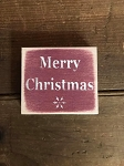 Merry Christmas Handmade Mini Wood Sign 3.5