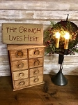The Grinch Lives Here Handmade Sign 6