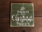 Christmas Trees Handmade Grooved Wood Sign 6