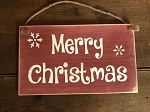 Merry Christmas Handmade Rope Wood Sign 6