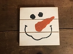 Snowman Handmade Grooved Wood Sign 6