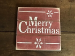 Merry Christmas Handmade Grooved Wood Sign 6