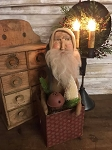 Handmade Sculpted Face Santa in Box 16