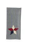 Pieced Star Applique Dishtowel