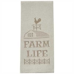 Farm Life Embroidered Dishtowel