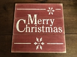 Merry Christmas Handmade Wood Sign 12