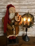 Arnett's Santa Holding Gingerbread in Mustard Coat 24