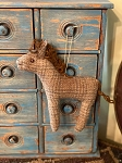 Handmade Wool Horse Ornament 7