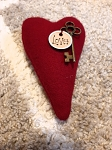 Handmade Red Wool Heart 6