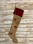 Handmade Snowflake Stocking 19