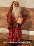 Arnett's Santa in Red Homespun with Sheep 22
