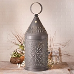36-Inch Tinner's Electric Lantern with Chisel in Blackened Tin