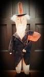 Handmade Uncle Sam on Stand is 27