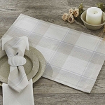 White And Wheat Plaid Placemat
