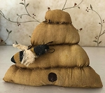 Handmade Bee Skep Hive with Bee