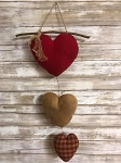 Trio of hanging Hearts