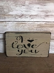 Handmade White I Love You Sign
