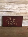 Handmade Red I Love You Sign