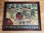 Hand Painted Ezekial Simmons 1878 Painting by Kathy Grabill