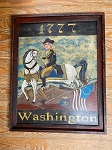 Hand Painted 1777 George Washington Painting by Kathy Grabill
